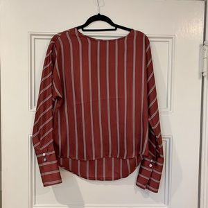 Express pinstripe blouse